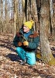 hög vinter för skogman Arkivbilder