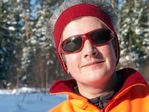 hög vinterkvinna för stående Royaltyfri Fotografi