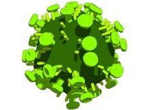 hög virus stock illustrationer