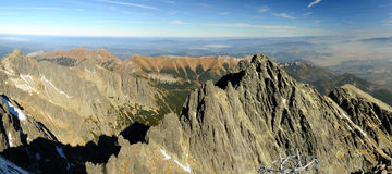 höga bergpanoramatatras arkivbilder