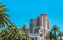 Höga byggnader av lyxiga kasinobyggnader och Las Vegas hotell Dragningsremsagata las nevada vegas Arkivbild