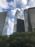 Höga byggnader av skönheten Chicago Royaltyfri Bild