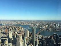 Höga golv för NYC-panoramautsikt 102 Arkivbild