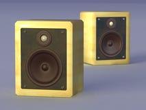 höga högtalare för fi stock illustrationer