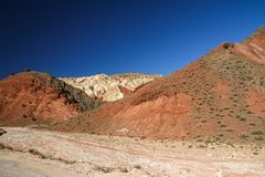 Höga kartbokberg, Marocko, Nordafrika Arkivfoton