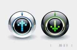 höga knappar - tech Arkivfoto