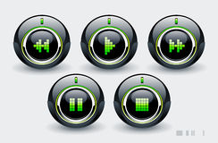höga knappar - tech Arkivbilder