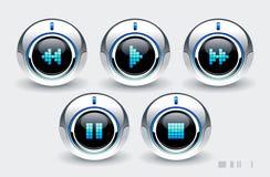 höga knappar - tech Royaltyfria Bilder