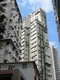 Höga löneförhöjningbyggnader i Hong Kong Arkivfoton