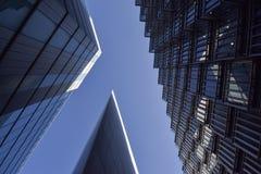 Höga löneförhöjningkontor i London arkivfoton