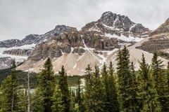 Höga maxima av den kanadensiska Rocky Mountain Fotografering för Bildbyråer