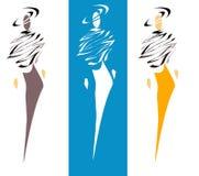 höga modeller för mode vektor illustrationer