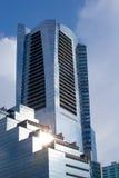 höga moderna skyskrapor Royaltyfria Foton
