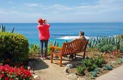 Höga par på montagen, Laguna Beach, Kalifornien Arkivfoton