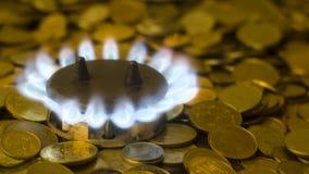 Höga priser för naturgas arkivbilder