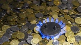 Höga priser för naturgas royaltyfri foto