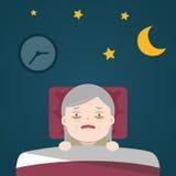 Höga sömnlöshet, sleeplessness Arkivfoto