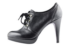 höga shoelaces för svart häl Royaltyfri Bild