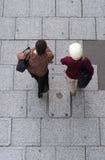 höga shoppingkvinnor Arkivfoto