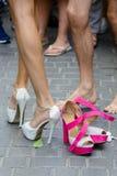 höga skor för häl Arkivbild
