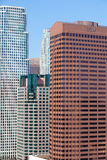 Höga skyskrapor i Los Angeles Arkivfoto