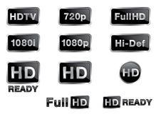 höga symboler för def Arkivfoton