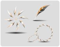 höga symboler ställde in tech Royaltyfri Bild
