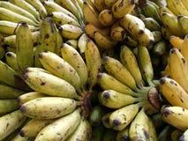Högar av bananen royaltyfri foto