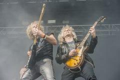 Högar av Rock 2014, Blaze Bayley musikband royaltyfri foto