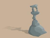 Högar av stenen Arkivbild