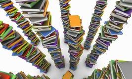 Högen av bokar Arkivfoto