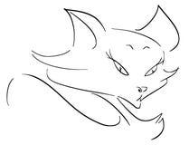högdragen katt Royaltyfria Bilder
