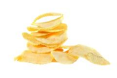 Högen av potatisen gå i flisor Royaltyfri Fotografi