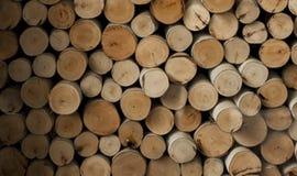Högen av trä loggar Arkivbilder