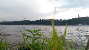 Höger kust av Kiev royaltyfria foton