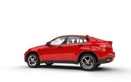 Höger sikt för röd SUV baksida royaltyfri fotografi