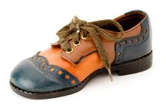 höger sko Fotografering för Bildbyråer
