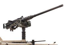 Höger tung maskingevär - isolerat Arkivfoton