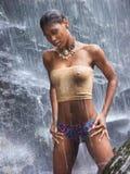 höger vattenfall för ö Royaltyfri Foto