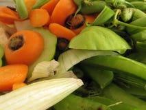 högg av grönsaker Fotografering för Bildbyråer