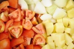högg av grönsaker Arkivfoto