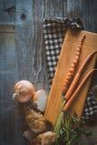 högg av grönsaker Royaltyfri Bild