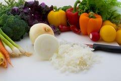 högg av grönsaker arkivfoton