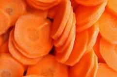 Högg av morötter Arkivfoton