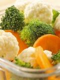högg av nya veggetables Arkivfoto