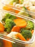 högg av nya veggetables Arkivbild