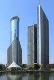 Höghus av den shanghai pudong lujiazuien Royaltyfria Foton