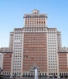 Höghus i Madrid, Spanien Arkivbilder