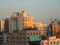 Höghus på Haikou, Hainan ö Arkivbild