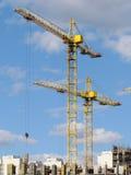 Höghus under pågående konstruktion. Arkivfoto